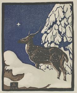 Image of Deer in Snow