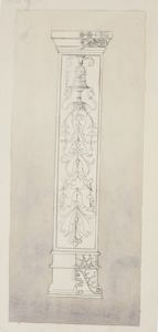 Image of Drawing of a Highly Decorated Column