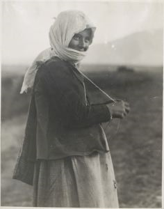 Image of A young shepherdess near Brale, Greece