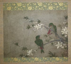 Image of Birds and Flowers