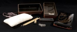 Image of Black Lacquer Writing Set