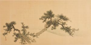 Image of Landscape with Tree Branches