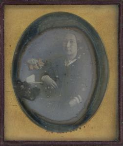 Image of Unidentified Woman at a Desk