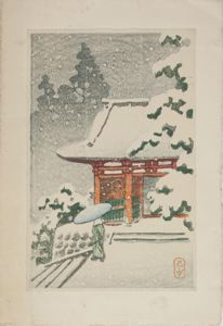 Image of Ni-o Gate in the Snow