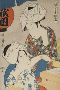 Image of Gion Bean Curd, from the series Twelve Types of Women's Handicraft (Fujin tewaza jûni-kô)