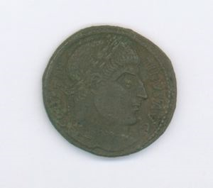Image of Byzantine Bronze Coin of Arelate Issued by Constantine the Great