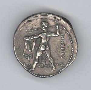 Image of Hellenistic Tetradrachm of Salamis Issued by Demetrius Poliorcetes