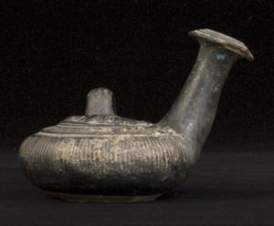 Image of Campanian Black-Gloss Guttus (Pouring Vessel)