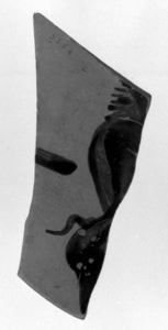 Image of Boeotian Kabeiric Black-Figure Sherd with Satyr