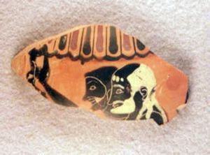 Image of Attic Black-Figure Sherd with Two Men