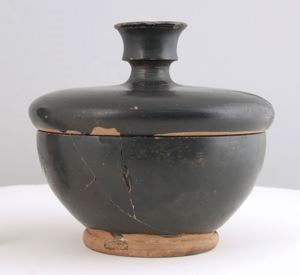 Image of Attic Black-Gloss Pyxis (Box)