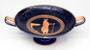 Image of Attic Red-Figure Kylix (Drinking Cup)