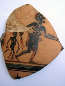 Image of Boeotian Kabeiric Black-Figure Body Sherd with Figures