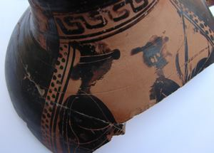 Image of Boeotian Kabeiric Black-Figure Hydria (Water Jar) Fragment