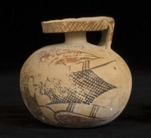 Image of Middle-Corinthian Aryballos (Oil Flask)
