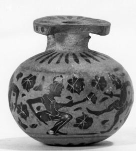 Image of Corinthian Aryballos (Oil Flask) with Dancers