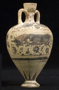 Image of Middle Corinthian Amphoriskos (Oil Flask) with Animals