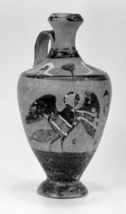Image of Attic Black-Figure Lekythos (Oil Bottle) with Birds