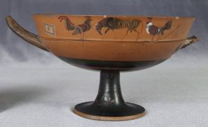 Image of Attic Black-Figure Kylix (Drinking Cup) with Animals