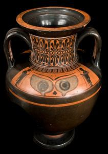 Image of Attic Black-Figure Neck-Amphora (Storage Vessel) with Eyes