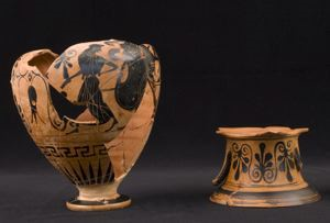 Image of Attic Black-Figure Neck-Amphora (Storage Vessel)