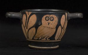 Image of Attic Red-Figure Skyphos (Cup) with Owl