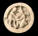 Image of Game Piece with Hercules Killing Cacus