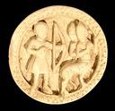 Image of Game Piece with Hercules Wielding Bow and Two Centaurs