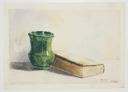 Image of Still Life with Green Vase and Book
