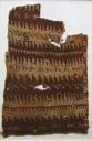 Image of Textile Fragment with Geometric Design of Camelids