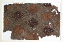 Image of Brocade Textile Fragment with Geometric Design