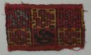 Image of Chancay Interlocked Tapestry Woven Textile Fragment with Bird Imagery