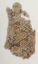 Image of Chimú Textile Fragment with Geometric Bird Design