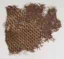 Image of Textile Fragment with Geometric Design