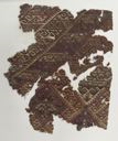 Image of Chimu Textile Fragment with Birds and Human Heads