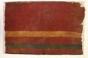 Image of Textile Fragment with Striped Design