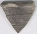 Image of Late Iron Age Black and Gray Burnished Ware Rim Sherd of Jar