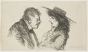Image of Couple in Profile (recto); Lady Reading (verso)