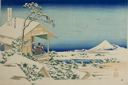 Image of Snowy Morning from Koishikawa (Koishikawa yuki no ashita), from the series Thirty-six Views of Mt. Fuji (Fugaku sanjurokkei)