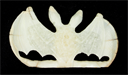 Image of Small Carved Ivory Bat Figurine