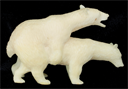 Image of Small Carving of Two Bears
