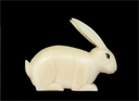 Image of Small Carved Rabbit Figurine