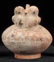 Image of Whistling Bottle with Two Owls