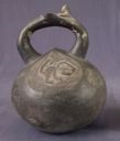 Image of Stirrup-Spout Vessel with Monkey Imagery
