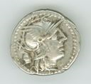Image of Republican Denarius of Rome Issued by C. Cassius