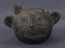 Image of Stirrup-Spout Bottle Depicting a Cat