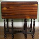 Image of Rosewood Drop-Leaf Side Table