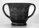 Image of Attic Black-Gloss Sessile Kantharos (Cup) with Stamped Decoration