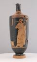 Image of Red-figure Lekythos (Oil Bottle) with Woman