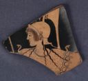 Image of Attic Red-Figure Amphora (Storage Vessel) Fragment with Athena